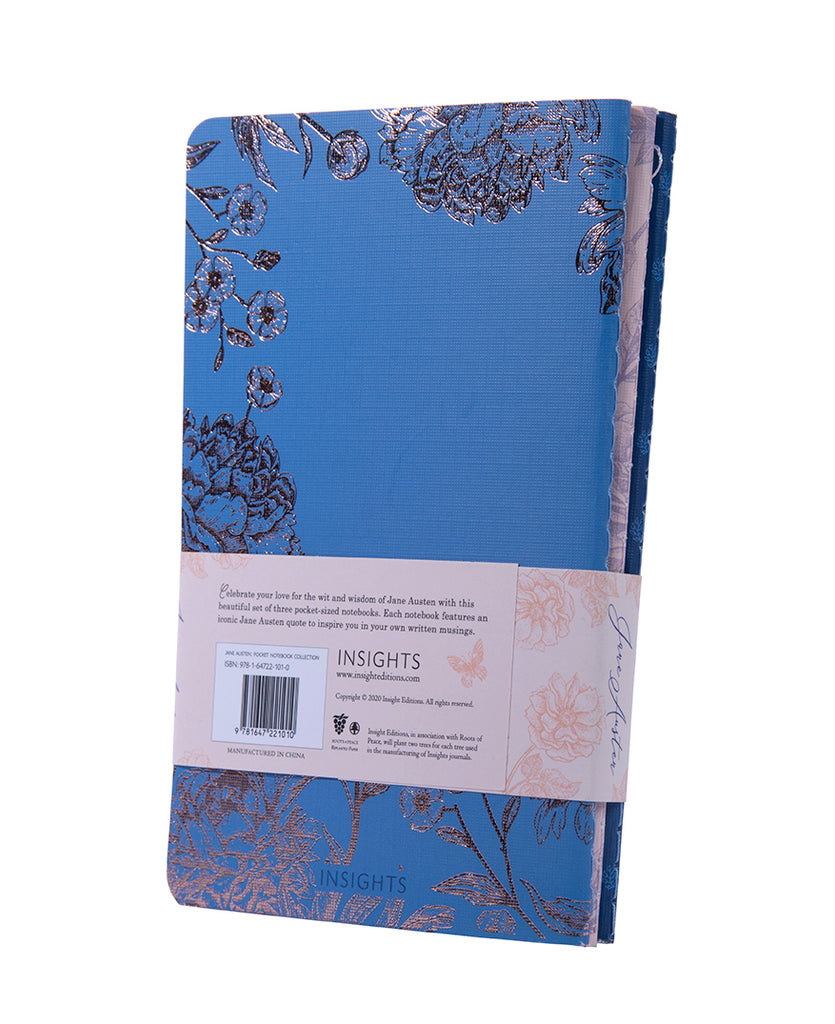 Jane Austen Sewn Pocket Notebook Collection (Set of 3)
