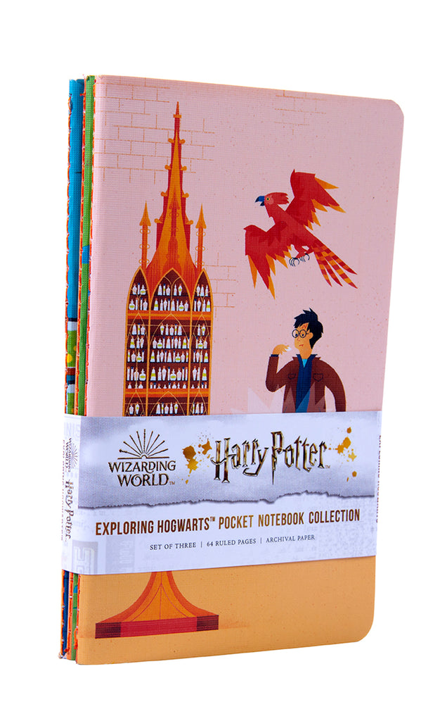 Harry Potter: Exploring Hogwarts™ Sewn Pocket Notebook Collection (Set of 3)