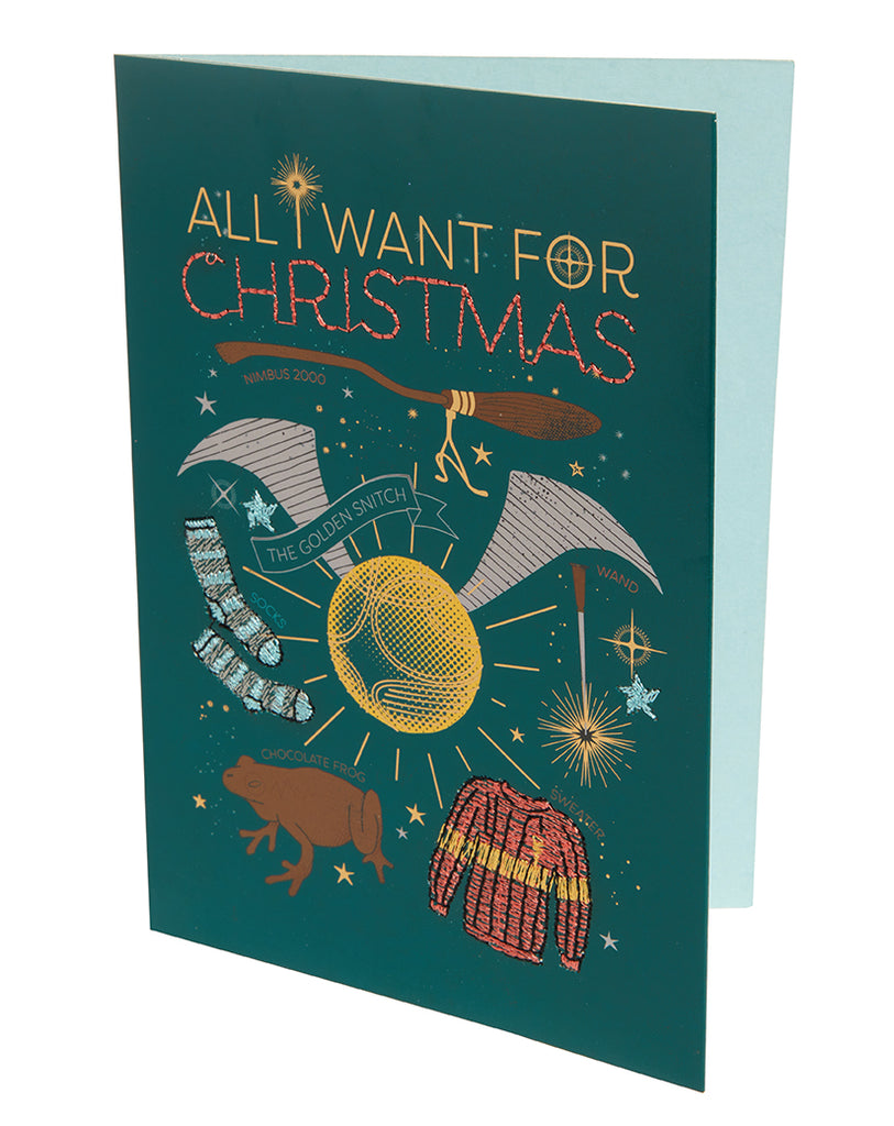 Harry Potter: All I Want For Christmas Embellished Card