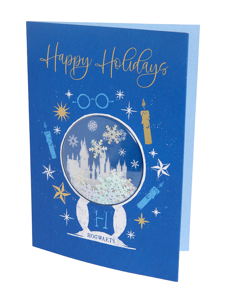 Harry Potter: Hogwarts Snow Globe Embellished Card