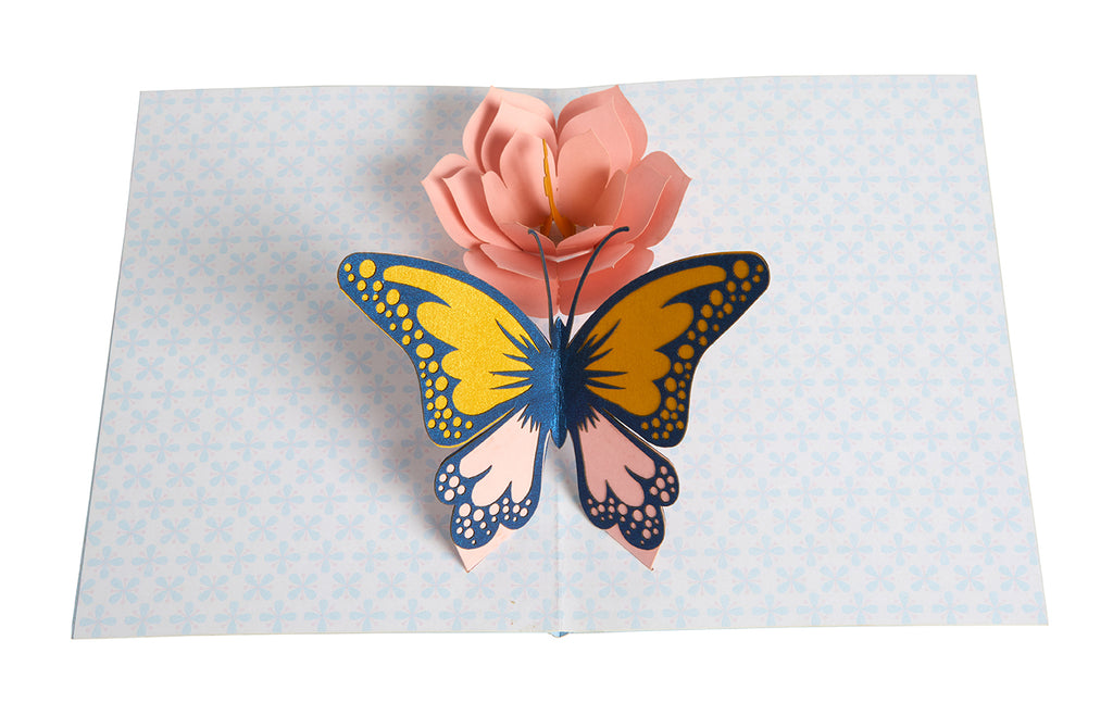 Butterfly Signature Pop-Up Card