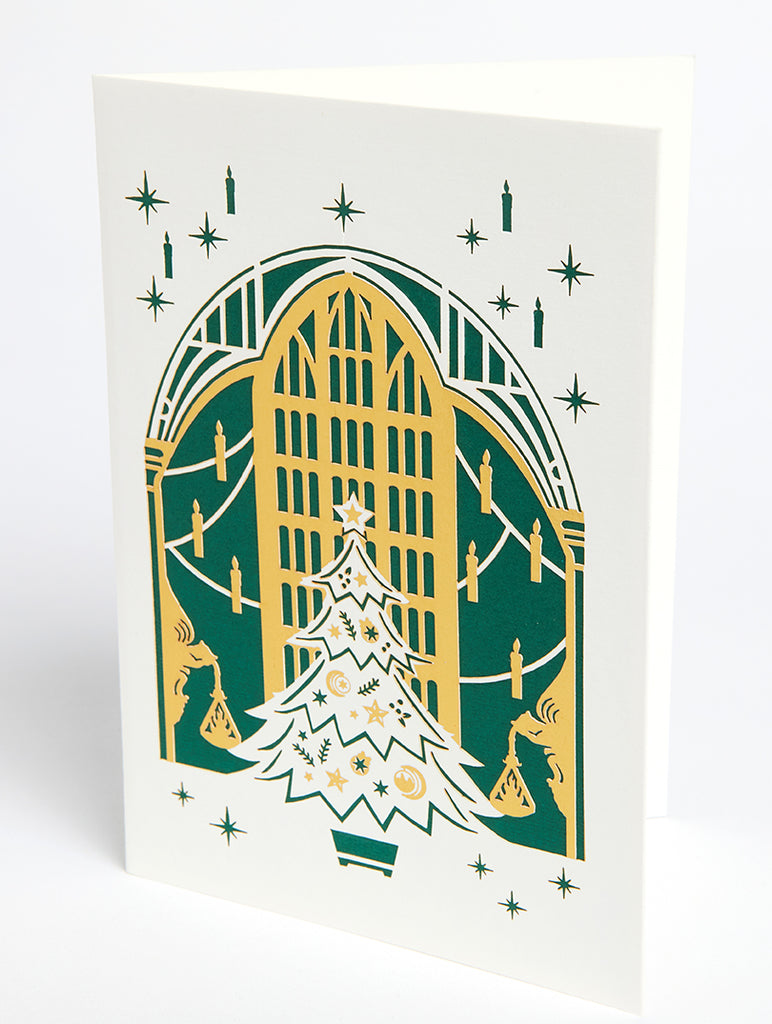 Harry Potter: The Great Hall Holiday Die-Cut Card