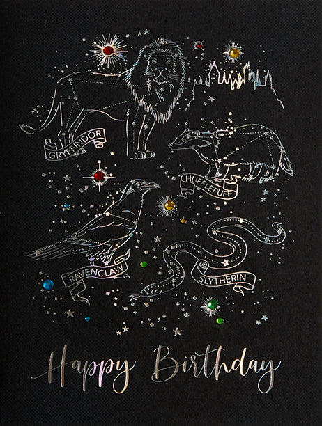 Harry Potter: Night Sky Birthday Embellished Card