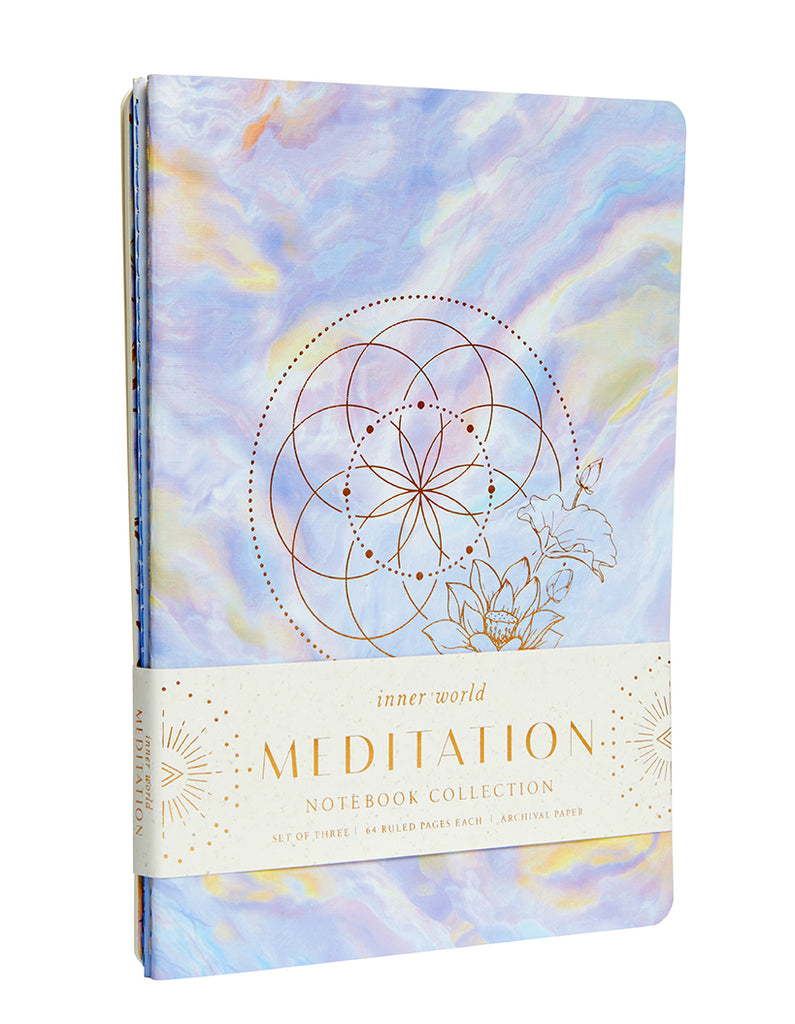 Meditation Sewn Notebook Collection (Set of 3)