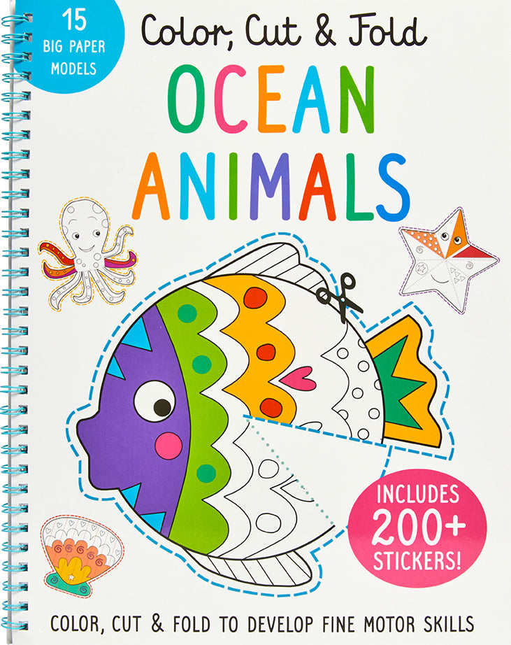Color, Cut, and Fold: Ocean Animals