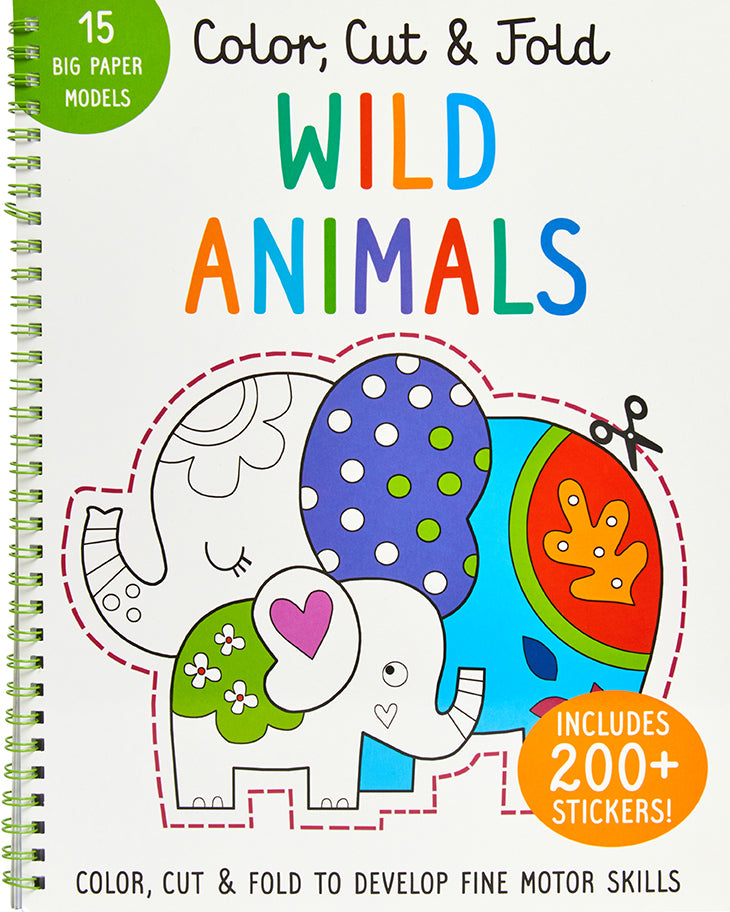 Color, Cut, and Fold: Wild Animals
