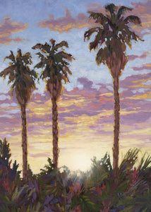 "Sunset Palms 30"" x 42"""