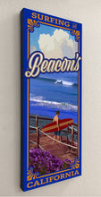 Load image into Gallery viewer, Surfing at Beacon's Giclée on Canvas