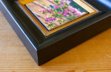 "Load image into Gallery viewer, Bougainvillea Study 6"" x 6"" Framed Oil on Canvas Board"