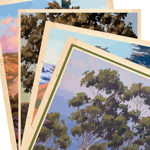 Classic California Coastal Giclée Print on Fine Art Paper