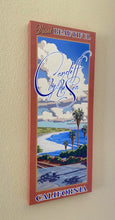 Load image into Gallery viewer, Visit Beautiful Cardiff by the Sea California Giclée on Canvas