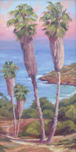 Load image into Gallery viewer, Two palm trees above the campgrounds at two harbors on Catalina island.