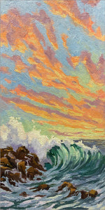 "Sunset Wave 6"" x 12"""