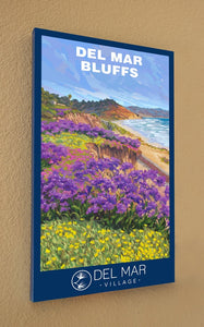 Del Mar Bluffs Springtime Giclée Print on Canvas
