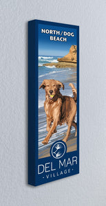 Del Mar Dog Beach Giclée Print on Canvas