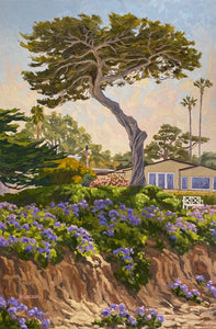 Del Mar, California, impressionistic oil painting on canvas board by Jim McConlogue
