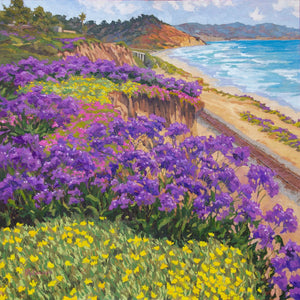 "Del Mar Springtime Original Oil on Linen 30"" x 30"""