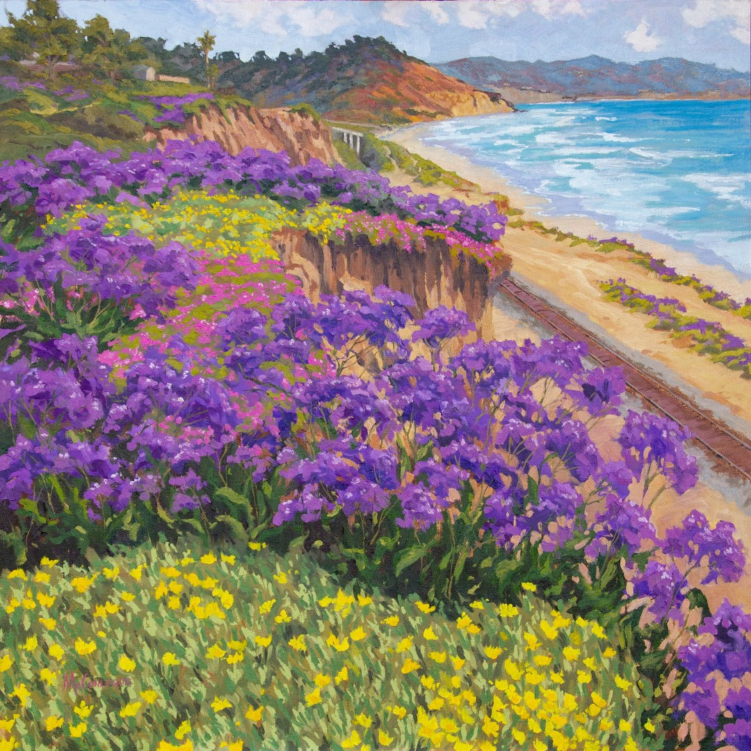 Del Mar Springtime Original Oil on Linen 30