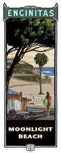 Load image into Gallery viewer, Moonlight Beach Giclée Print on Canvas or Bamboo