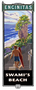 "Swami's Beach Poster 14"" x 36"""