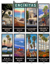 Load image into Gallery viewer, Encinitas Banner Art Giclée on Canvas