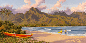 "Hanalei Bay, Kauai Commission 60"" x 30"""