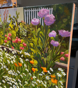 John & Heather's Garden Original Oil on Linen
