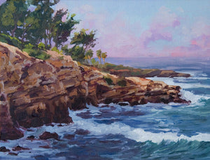 "La Jolla Cliffs 12"" x 9"""