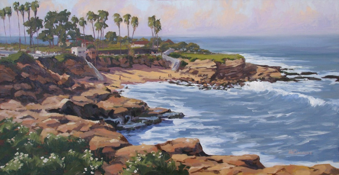 Oil painting of La Jolla Cove. 36