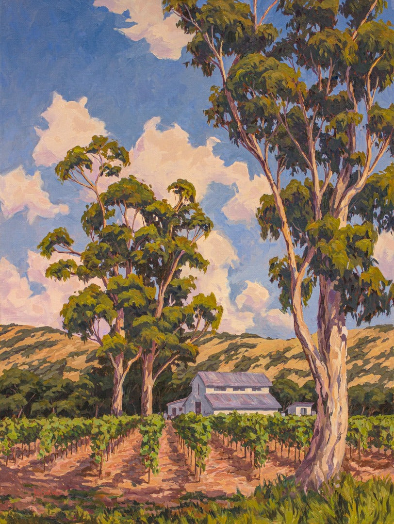 Napa Vineyard Original Oil Painting 30