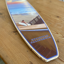 Load image into Gallery viewer, Stonesteps Beach Giclée Print on Surfboard Shape