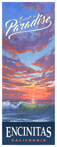 "Sunsets in Paradise Poster 14"" x 36"""