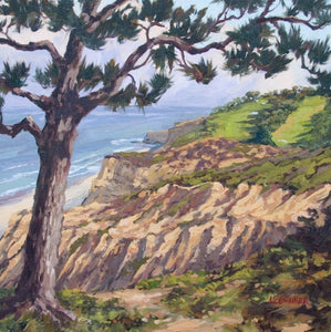 "Torrey Pines View North - Oil on Linen 20"" x 20"""