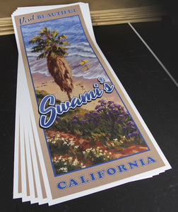 "Visit Beautiful Swami's California Poster 14"" x 36"""