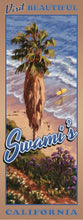 Load image into Gallery viewer, Visit Beautiful Swami's California Giclée Print on Canvas