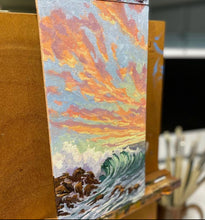 "Load image into Gallery viewer, Sunset Wave 6"" x 12"""