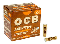 OCB Activ Tips Slim Unbleached Activated Carbon Filter 7mm