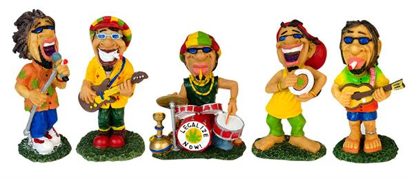 "Polyresin Figur ""Rastaman Band"" 5er Set"