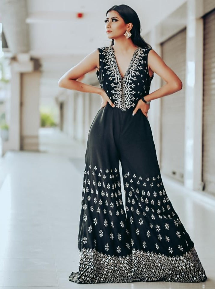 Black Mirror embellished Jumpsuit