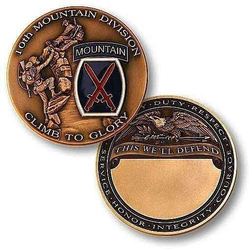 10th Mountain Division Challenge Coin - OPSGEAR