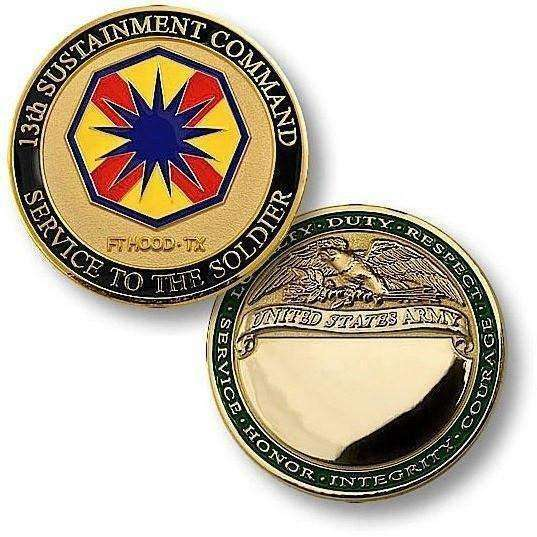 13th Sustainment Command, Ft. Hood, TX Challenge Coin - OPSGEAR