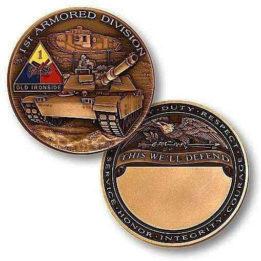 1st Armored Division Challenge Coin - OPSGEAR