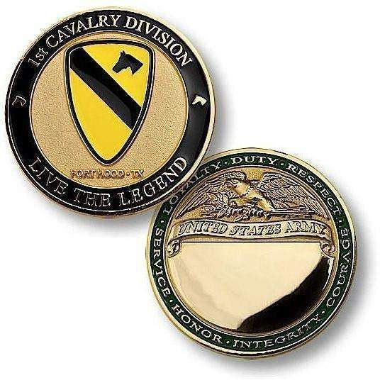 1st Cavalry Division, Fort Hood, TX Challenge Coin - OPSGEAR