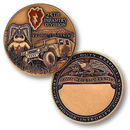 25th Infantry Division Challenge Coin - OPSGEAR