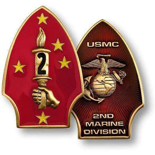 2nd Marine Division 1 1/4 inch x 2 inch - OPSGEAR