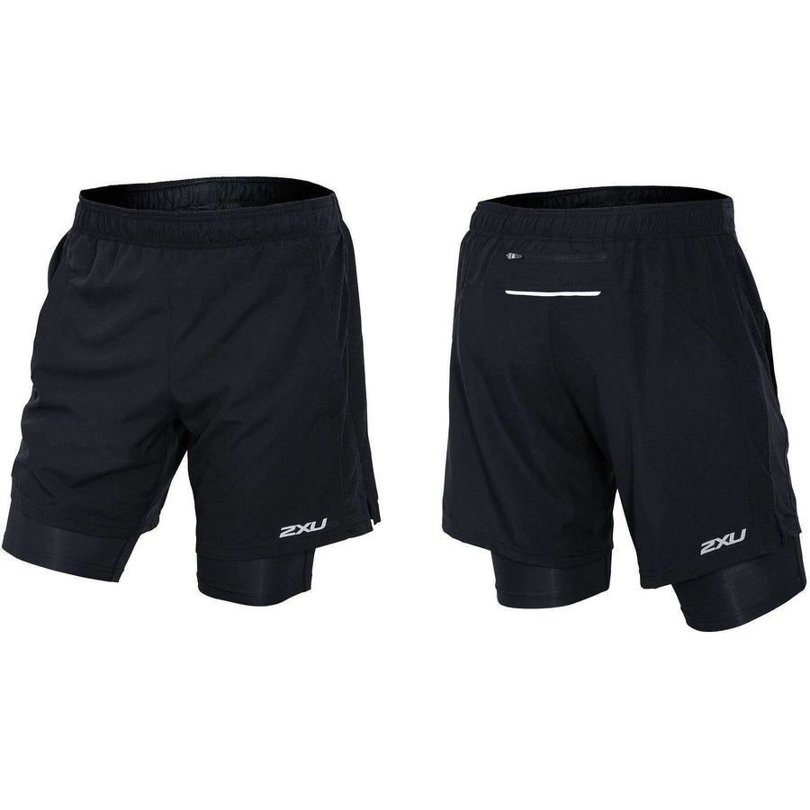 "2XU Men's PACE 7"" 2-IN-1 SHORT Black/Black - OPSGEAR"