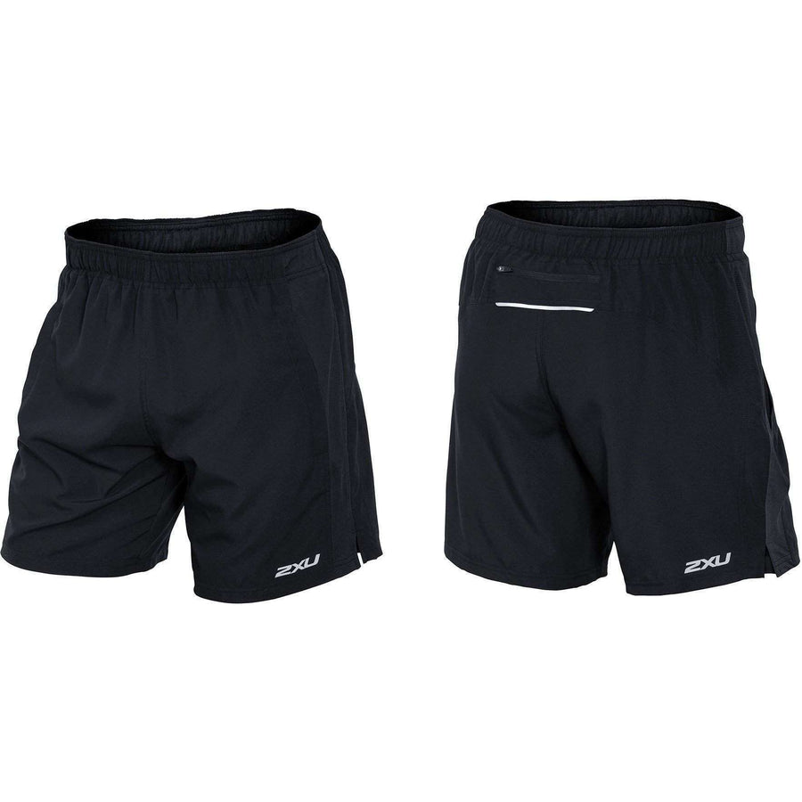 "2XU Men's PACE 7"" SHORT Black/Black - OPSGEAR"