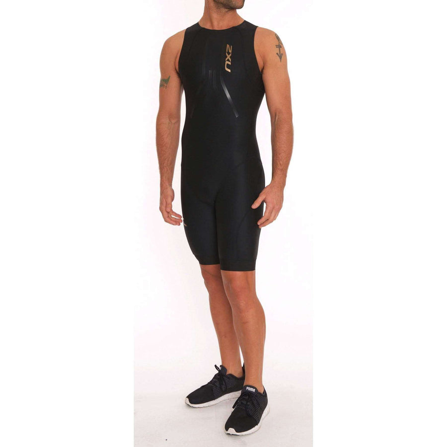 2XU Men's PROJECT X SWIM SKIN Black/Gold - OPSGEAR