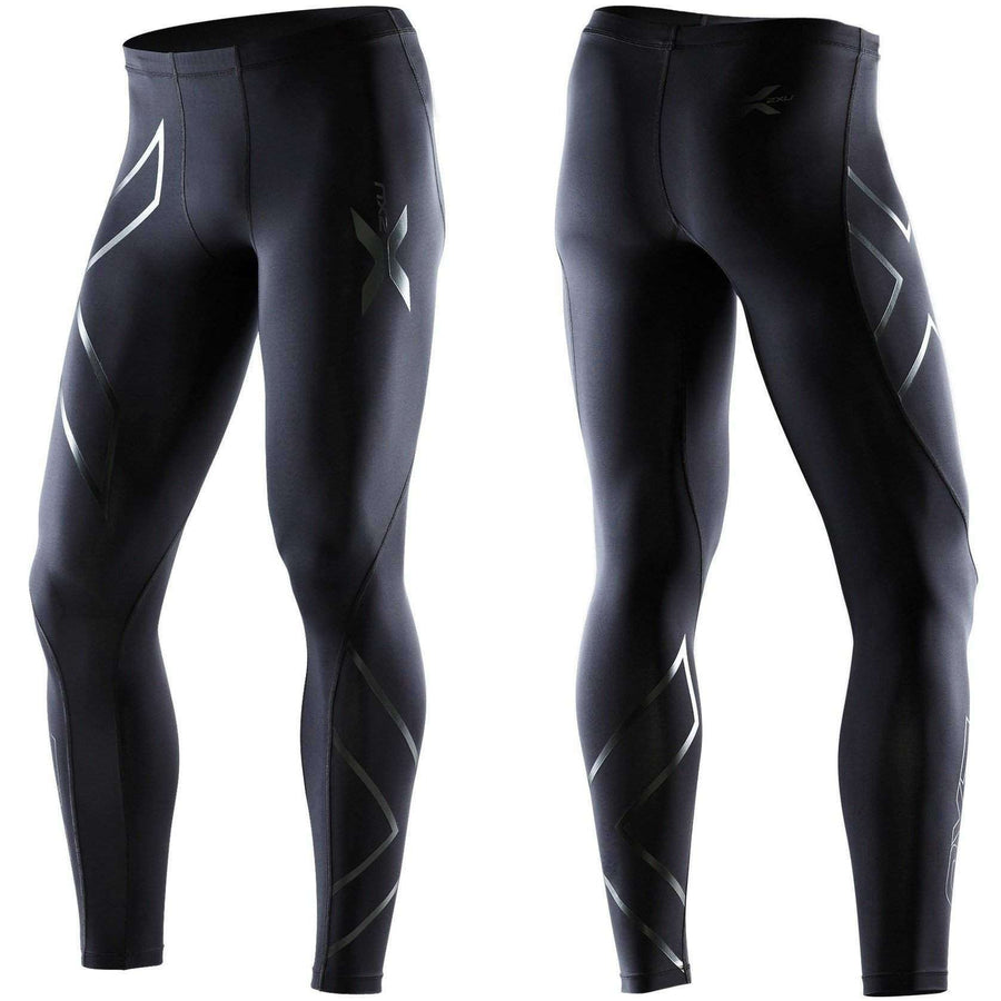 2XU Men's RECOVERY COMPRESSION TIGHTS Black/Black - OPSGEAR