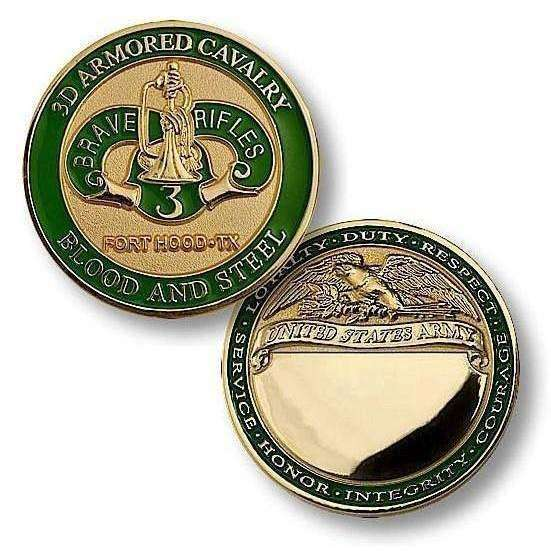 3rd Armored Cavalry, Fort Hood, TX Challenge Coin - OPSGEAR